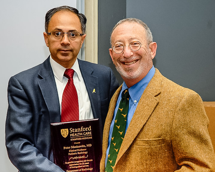 Peter honored by Stanford Department of Radiology