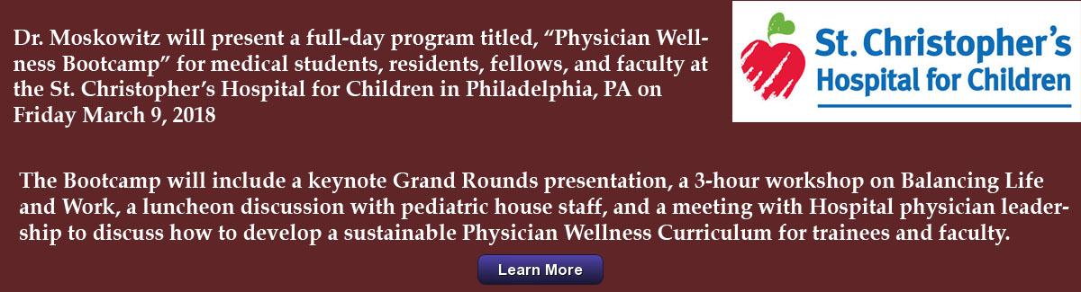Physician Wellness Bootcamp